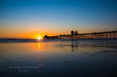 Beautiful. Etsy listing at https://www.etsy.com/listing/219510425/oceanside-pier-at-sunset-framed
