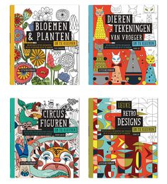 Prachtige retro-kleurplaten!  Verkrijgbaar bij de betere boekhandel