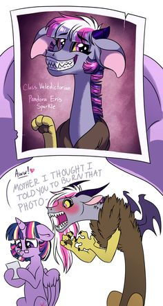 Twilight reminisces about the days when her daughter was well behaved, an honor student, and a dutiful princess in training. Pandora cringes at the memory of being the most awkward teen noodle nerd. My Little Pony Characters, My Little Pony Comic, My Little Pony Drawing, My Little Pony Pictures, Mlp Comics, Cute Comics, Mlp Memes, Funny Memes, Little Poni