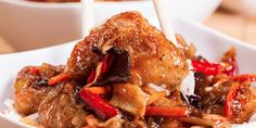 Slow Cooker Easy Sweet and Sour Chicken - Easy and Healthier than eating Chinese out!  www.GetCrocked.com
