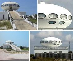 Spaceship house on Pensacola Beach. (I used to live just a few minutes from this house and remember seeing it everytime I drove down the beach)