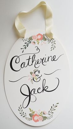 Custom Wedding Sign Bride and Groom Names by firstsnowfall on Etsy, $84.00