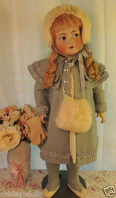"""29"""" Kammer Reinhardt 117N Flirty Eyes Antique German Bisque Doll Antique Doll"""