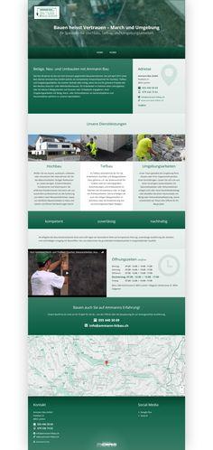 Ammann Bau GmbH, Lachen, Region March, Bauunternehmen, Hochbau, Tiefbau, Umgebungsarbeiten