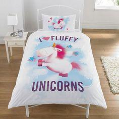 Tesco direct: Despicable Me Minions Rush Fluffy Unicorn Single Duvet Set