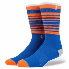 NEW STACE NBA Knicks Arena Core Blue Classic Crew Socks Mens Size L (9-12) #Stance #Crew