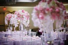 Grand vase pour fleurs centre table mariage