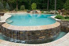 Gorgeous view of inground pool