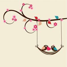 Ideas For Bird Cage Wallpaper Backgrounds Simple Wall Paintings, Wall Painting Decor, Diy Painting, Valentine Doodle, Valentines, Bird Artwork, Creative Embroidery, Hand Art, Vintage Birds