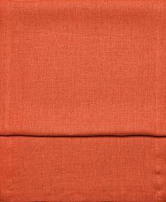Sonderpreis Edith Leinen Tischl�ufer Uni ca. 40x150 cm 100% echtes nat�rliches Leinen in bunter Farbauswahl Farbe (042 orange)