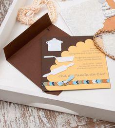 Convite chá de panela / DIY, Craft, Upcycle