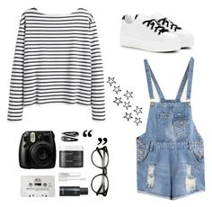 """""""It was fun while it lasted"""" by xniko ❤ liked on Polyvore featuring Wood Wood, Kenzo, Living Proof, Blink, Smashbox, Fujifilm, contest, white, black and stripes"""