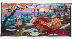GRAYSON PERRY -  The Vanity of Small Differences, a series of seven exuberant tapestries by Grayson Perry