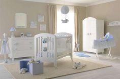 Set up a baby room Baby Boy Nursey, Baby Boy Rooms, Baby Bedroom, Baby Boy Nurseries, Kids Bedroom, Light Blue Nursery, Boys Room Decor, Baby Decor, Home Decor Inspiration
