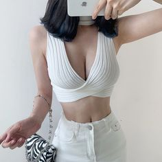 Big stretch sexy hipster white knit vest · FE CLOTHING · Online Store Powered by Storenvy Grunge Look, Grunge Style, 90s Grunge, Soft Grunge, Grunge Outfits, Trendy Outfits, Cute Outfits, Fashion Outfits, Style Pastel