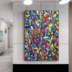 large canvas wall art abstract, large abstract painting original, colorful abstract painting on canvas, oversized wall art abstract Large Canvas Wall Art, Abstract Canvas Art, Pollock Paintings, Oversized Wall Art, Colorful Paintings, Original Paintings, Artwork, Etsy, Work Of Art