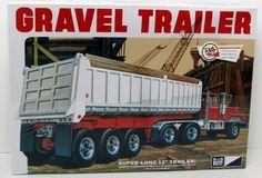 Gravel Trailer AMT/MPC #823 1/25 Super Long Plastic Model Kit New