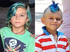 Kingston Rossdale's blue hair -- a do or don't?