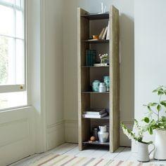 Mondo shelf in reclaimed fir and vintage-y steel