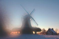Neu in meiner Galerie bei OhMyPrints: Wintersonne an der Windmühle