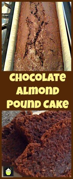 Moist Chocolate Almond Pound Cake.  Delicious, rich chocolate cake with added melted chocolate and ground almonds to take this cake to another level of deliciousness!  #loaf #poundcake
