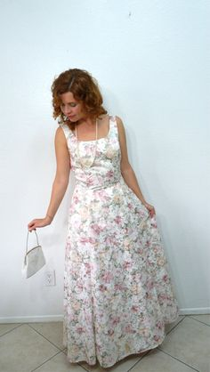 Vintage 80s Brocade Bridesmaid Dress by by KMalinkaVintage, $125.00
