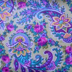 laura ashley fabric   Laura Ashley Floral Print Fabric - Folksy