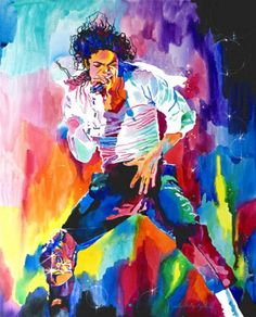 Painting of Michael by vivid impressionist painter David Lloyd Glover. He has these for sale as prints and cards.