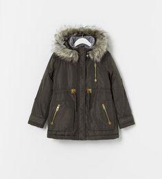 Image 1 of COAT WITH DETACHABLE HOOD from Zara