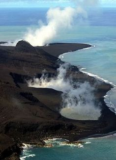 Underwater volcanic eruption forms new island off the coast of Tonga