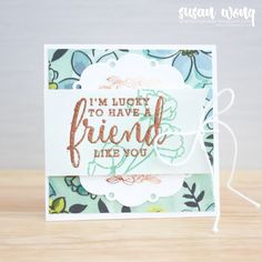 Stampin' Up! Rubber Stamping Techniques, Beautiful Handmade Cards, Card Making Inspiration, Scrapbook, Stampin Up, Artisan, Paper Crafts, Fancy, Friday