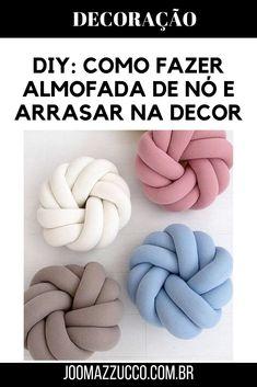 Knot Pillow, Knot Cushion, Pillow Tutorial, Cushion Tutorial, Craft Corner, Love Sewing, Diy Pillows, T Shirt Diy, Soft Furnishings