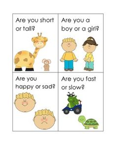 These cards are designed to help your students practice using the words am and are correctly. Each card has a question with the form Are you _____ or _____? Ask your students the question and prompt them to respond with I am _____ or We are _____. You can also have your students practice asking each other the questions to work on using Are in question format.
