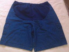 Denim Cargo Shorts by New Additions Maternity!  Size 10  -NICE!!! EUC! #NewAdditionsMaternity #Denim