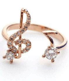 >>>Cheap Sale OFF! >>>Visit>> Musical Note and Treble Clef Ring detailed CZ in rose gold love! Music Jewelry, Cute Jewelry, Gold Jewelry, Jewelry Rings, Jewelry Accessories, Jewelry Design, Music Rings, Jewlery, Men's Jewellery