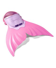 Pink Mermaid Tail flipper for swimming. Our girls would go nuts for this!