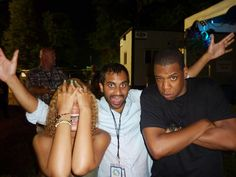 Beyonce, Aziz, and Jay-Z
