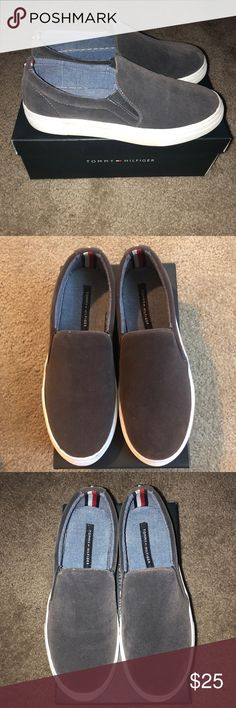 e411acb9d4 Tommy Hilfiger Gray slip-on sneakers Worn only one time! Come with original  packaging