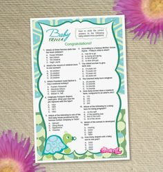 Delightful Baby Trivia Baby Shower Game