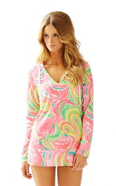4b425ffd2a5a Lilly Pulitzer Megan Tunic Terry cloth hoodie worn once perfect condition  size XS Lilly Pulitzer Tops Tunics