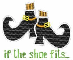 The Shoe Fits embroidery design