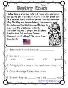 Betsy Ross Reading Passage