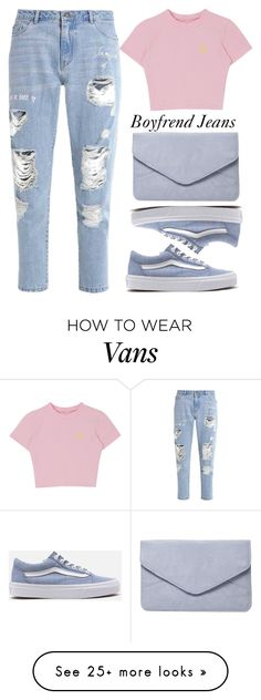 """""""Borrowed from the Boys: Boyfriend Jeans"""" by xhesikakuca on Polyvore featuring Vans and Dorothy Perkins"""