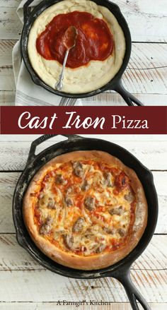 Neat Making homemade pizza has never been easier. Cooking in cast iron gives the pizza a crunchy outer crust. The post Making homemade pizza has never been easier. Cooking in cast iron gives the pizza a crunchy outer crust. Dutch Oven Cooking, Dutch Oven Recipes, Easy Cooking, Cooking Recipes, Dutch Ovens, Cooking Gadgets, Cooking Tools, Cooking Classes, Dutch Oven Pizza