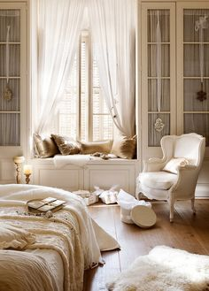 Dressing intégrant fenêtre / banquette - chambre d'Ambre