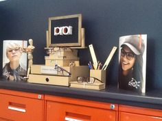 Through the looking glass: back to school and work in store optometry display for Pro design eyewear.