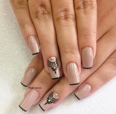Discovered by Find images and videos about nails, nail art and nailart on We Heart It - the app to get lost in what you love. Fabulous Nails, Perfect Nails, Gorgeous Nails, Pretty Nails, Nude Nails, Acrylic Nails, Winter Nails, Diy Nails, Nails Inspiration