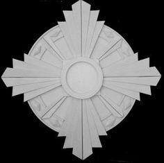 new Art Deco 'Fantail' plaster ceiling rose / medallion 20 inch dia.