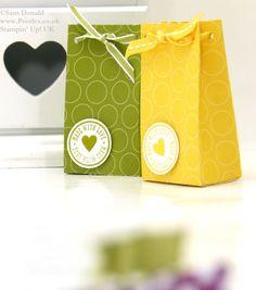 POOTLES Stampin Up UK Polka Dot Parade 6 bags from one sheet DSP 2 gift ideasholiday, paper craft, gift wrap, polka dots, papercraft, wrap paper, box, gift bag, bags