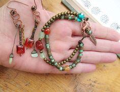 Une parure bracelet et boucles d'oreille : Tournoiements & Ondulations : Parure par les-reves-de-minsy